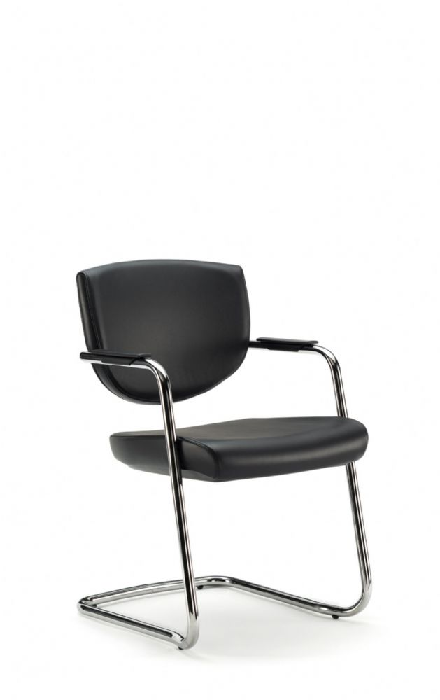 Pledge Key Meeting Room Stacking Chair With Cantilever Base And Fixed Arms